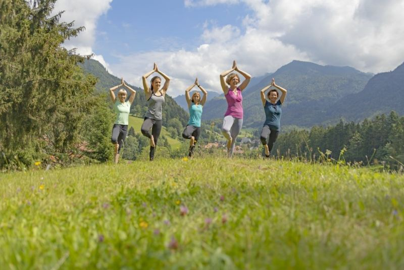 Yoga holiday in the mountains