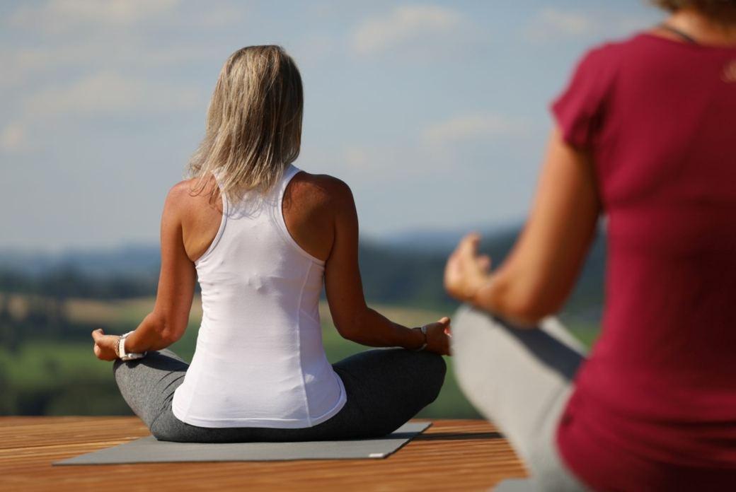 Meditation, Yoga und Wandern